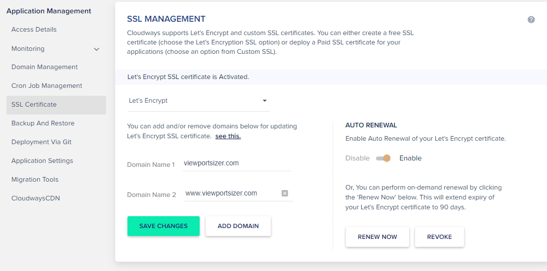 Cloudways Free Ssl